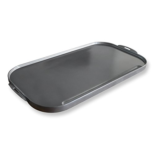 Little Griddle ANYWARE  Ceramic Cast Aluminum Double-Burner Griddle, Large, Charcoal