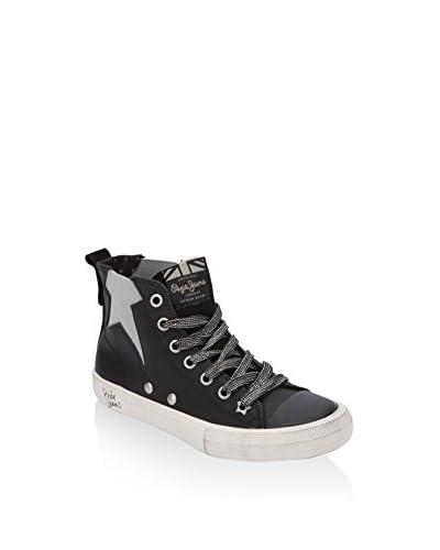 Pepe Jeans London Zapatillas abotinadas Industry Star Negro