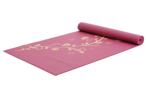 yogistar-yogamatte-basic-indian-flower-rutschfest-bordeaux