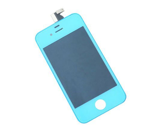 Light Blue Iphone 4S Lcd Screen Digitizer Front Glass Assembly