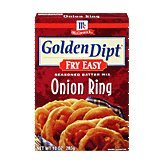 Case of Golden Dipt Seasoned Onion Ring Batter Fry Mix (12 Total)