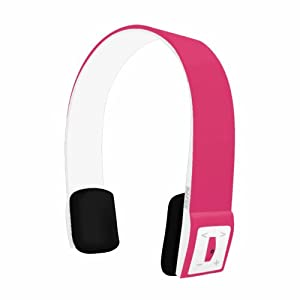 Pink Infinity Bluetooth Wireless Headphones with Music Controls and Call Mic by Stuff4®