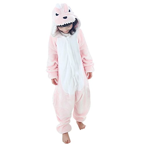 DEHANG Preety Cute Girls Kids Dinosaur Cartoon Costume Pyjamas Size 115- Pink