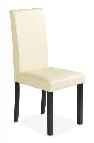 esszimmerstuhl polsterstuhl kunstleder creme aron 2. Black Bedroom Furniture Sets. Home Design Ideas