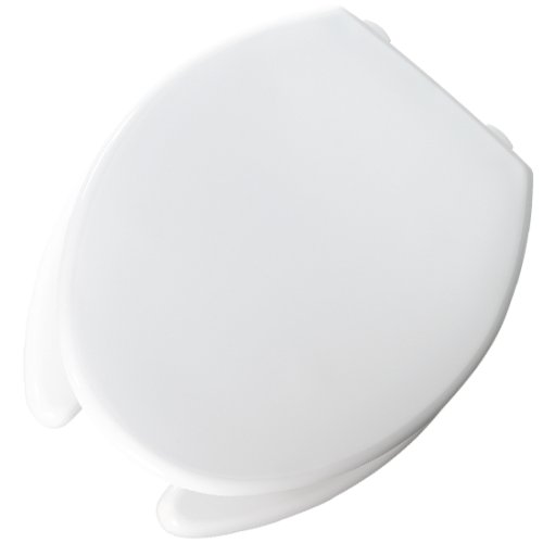 Bemis 3L2150T 000 Medic Aid Plastic Raised Open Front Toilet Seat With Cover