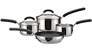Prestige 75 Year Stainless Steel Cookware Set, 4-Piece - Silver