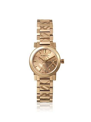 Swiss Burberry Unisex de sexo en Nueva York de peluche color beis-tono reloj de acero inoxidable para 26 mm BU9227