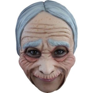 [Old Woman / Lady Adult Jawless Full Overhead Latex Mask Ghoulish 27508] (Jack Torrance Costume)