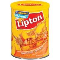 Lipton Summer Peach Sugar Sweetened Iced Tea Mix