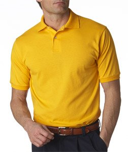 Jerzees Men's SpotShield Button Down Polo Sport