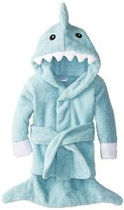 FireBeast Baby Blue Terry Shark Robe, Blue, 0-9 months