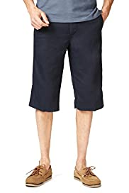 Blue Harbour Pure Linen 3/4 Shorts