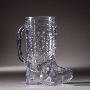 Cowboy Boot 17 oz. Plastic Mug