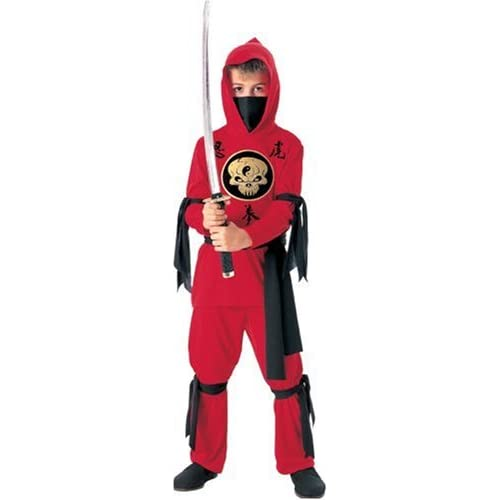 Halloween Concepts Childs Red Ninja Costume Small