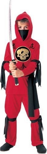 Halloween Concepts Child's Red Ninja Costume, Medium