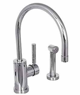 Watermark Loft Single Handle Kitchen Faucet with Spray Polished Chrome