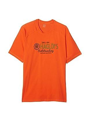 Haglöfs Camiseta Manga Corta Climatic Tees (Naranja)