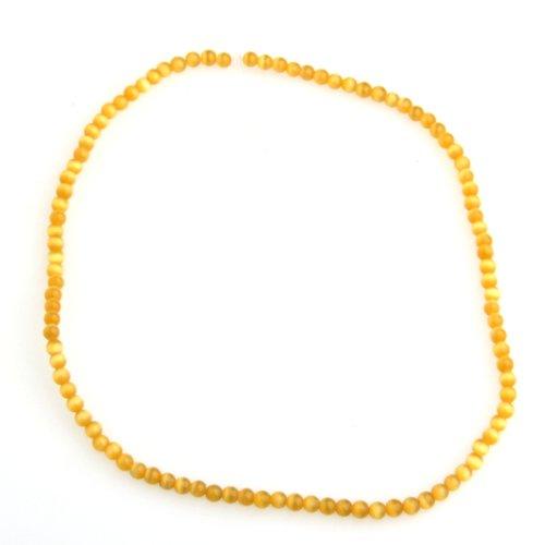 Cat's Eye Opal Gemstone Gem Stone Round Bead 4mm Yellow HOT