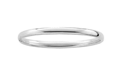 Sterling Silver Children's Polished Guard and Hinge Bangle Bracelet