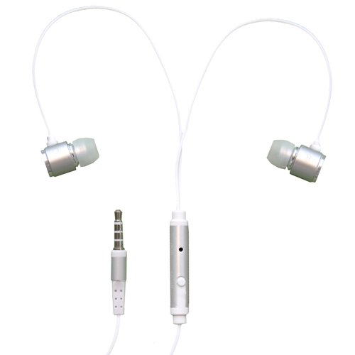 Rnd Noise Reducing Ear Buds With Built-In Microphone (Silver)