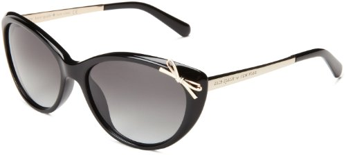 Kate Spade Women's Livia2s Cat-Eye Sunglasses,Black,55 mm