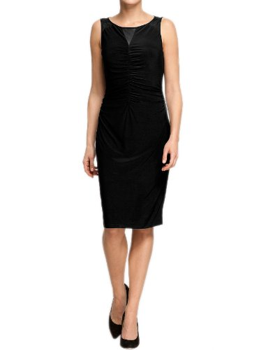 Comma Damen Kleid (knielang) Regular Fit 89.303.82.2151 KLEID KURZ, Gr. 42, Schwarz (9999 black)