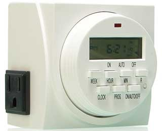Digital Timer Programmable For Lights Lamps Dual 110V 15 Amp Outlets