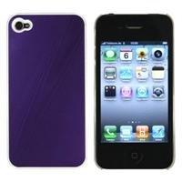 XiRRiX Premium TPU Aluminium Look Case für Apple iPhone 4, Farbe: purple