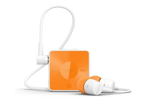 Sony SBH20 Smart Wireless NFC Bluetooth 3.0 In-Ear Headphones Stereo Headset Earbuds (Orange) Sony Bluetooth Headsets autotags B00HMYAUYI