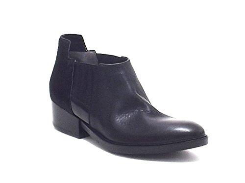 Janet & Janet scarpe donna, 36256, stivaletto in pelle e cavallino, colore nero