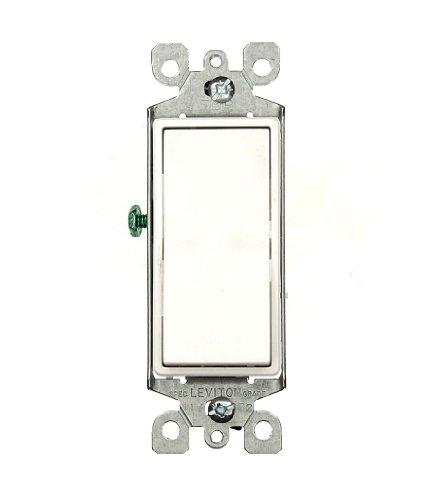 15 Amp 120/277 Volt, Decora Rocker 3-Way AC Quiet Switch, Residential Grade, Grounding, Brown/Gray/Almond/Light Almond/Black/Ivory/White, 5603-2