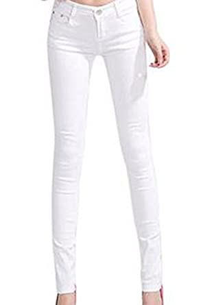Hee Grand Jeans Slim Femme Taille XS Blanc