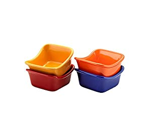 Rachael Ray Stoneware Lil' Saucy Set of 4 Square Dipping Cups