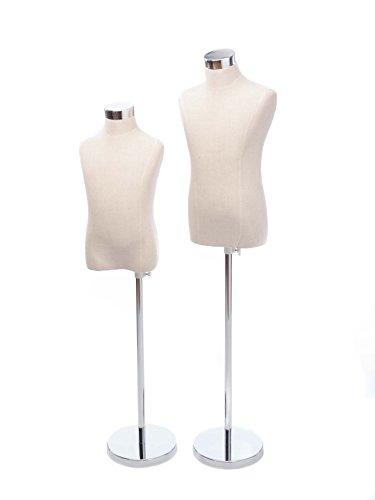 Paar-Schneiderpuppe-Schaufensterpuppe-dummy-Kind-klein-115125cm-antik-Stil