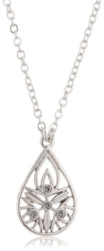 Pilgrim Jewelry Limited Edition Silver-Plated Metal Crystal Necklace With Pendant