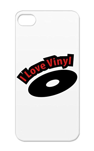 Rock`Nroll Pop Sound Vinyl Sounds Music Disco Dance R&Amp;B Hiphop Music Country Headphones Metal Rock Records Birthday Party Jazz Classic Fun Rock And Roll Dj Urban Headphone Red Love_Vinyl Cover Case For Iphone 5