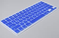 iSkin Aqua Blue Keyboard Silicone Cover Skin for Macbook / Macbook Pro 13, 15, 17 inches Aluminum Unibody