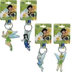 Disney Fairies Tinkerbell Keychain- Lucite Shaped Key Chain - 1