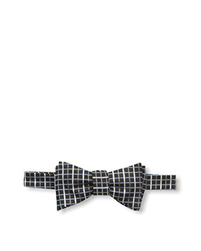Franklin Tailored Men's Stripe Bow Tie, Navy