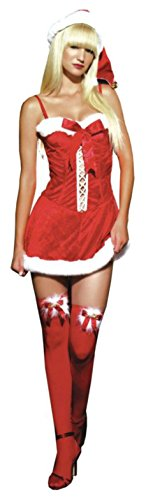 Leg Avenue Womens Missy Claus Christmas Holiday Outfit Fancy Dress Sexy Costume
