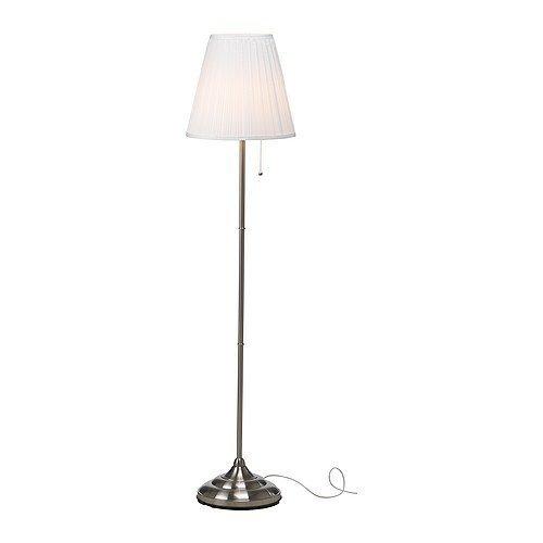 Ikea Arstid Floor Lamp, Nickel Plated, White by IKEA