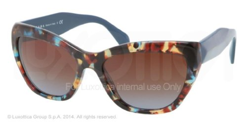 prada Prada 02QS NAG0A4 Tortoise Blue 02QS Poeme Cats Eyes Sunglasses Lens Category 3