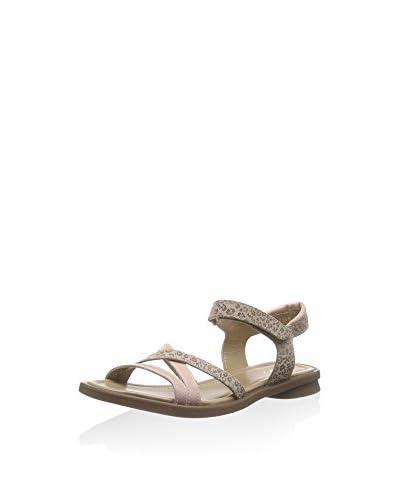 Sandalo basso beige