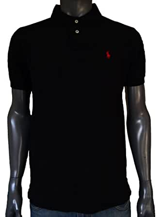 Ralph lauren mens custom fit black polo t shirt xl for Amazon custom t shirts