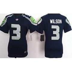 Buy Ladies Russell Wilson Seattle Seahawks Blue Medium Elite Jersey by Elite Game