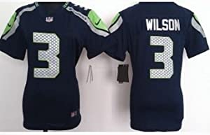 Buy Ladies Russell Wilson Seattle Seahawks Blue Small Elite Jersey by Sassy Shoppe