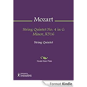 String Quintet No. 4 in G Minor, K516 - Score