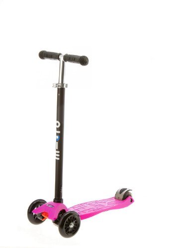 maxi kick Scooter - NEON PINK with T-Bar Steering. Winner of the Oppenheim Portfolio Gold and Platinum Seal Awards 2009