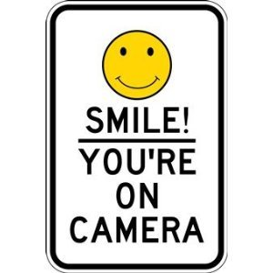 "Amazon.com: Smile Your On Camera! 12"" x 18"" .040 Aluminum Sign: Home"