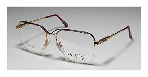 Capri Cheryl Tiegs Womens/Ladies Designer Half-rim Spring Hinges Eyeglasses/Glasses (54-16-130, Gold / Pink)